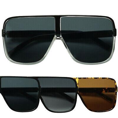 ShadyVEU Oversized XL Fashion Flat Top Flat Lens Kim K Style Women's (Kim K Sunglasses)