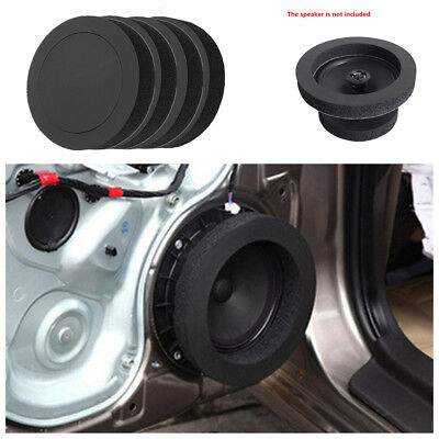 4 Pcs 6.5 inch Black Soundproof Cotton Ring For Car Audio Speaker Bass Door Trim