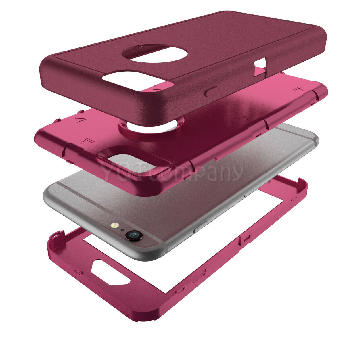 For iPhone 6 6S 7 Plus XS Max XR Case Hybrid Heavy Duty Shockproof Rubber Cover