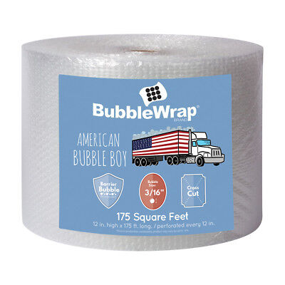 "Bubble Wrap 3/16"" Small Bubbles 175' - 2Day Ship - by American Bubble Boy"