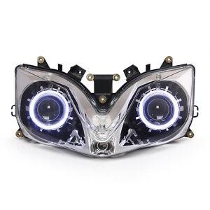 KT for Honda CBR600F4i  2001 2007 Headlight Assembly LED Angel Demon Eye Kit