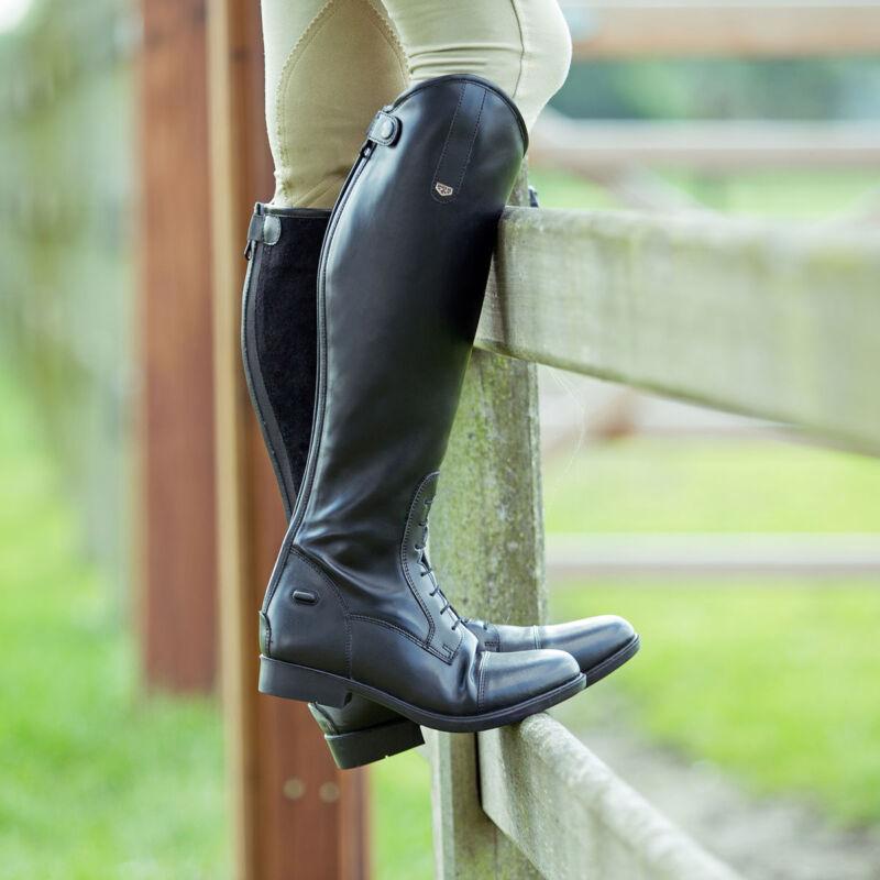 Horze Ladies Spirit Rover Black Tall Contoured Riding English Field Boots asst