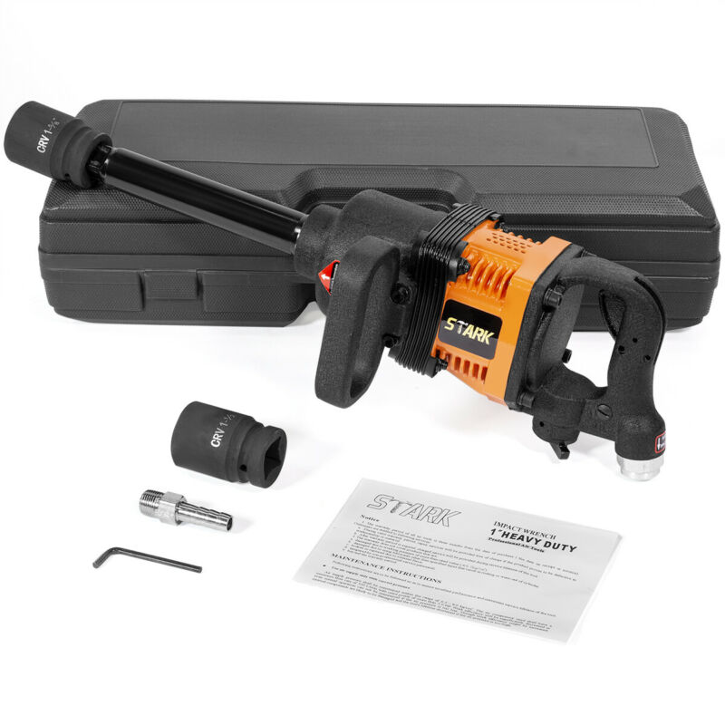 "Heavy Duty 1"" Drive Air Impact Wrench Tool Gun 1 Inch Long Shank 1900 Ft-lbs"