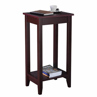 Tall End Table Coffee Stand Night Side Nightstand Accent Furniture Brown