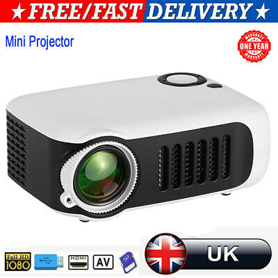 Portable Pocket Mini LCD Projector 3D Full HD 1080P Home Cinema HDMI AV USB VGA