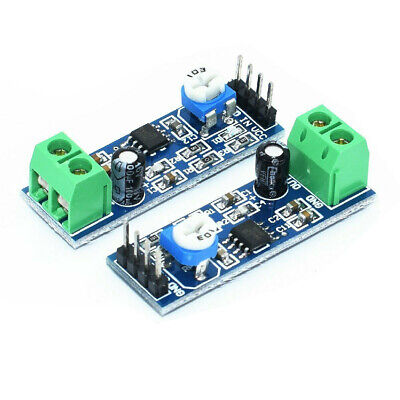 Audio Amplifier Module For Arduino 200 Times Gain 5v-12v Lm386 - 1 Piece