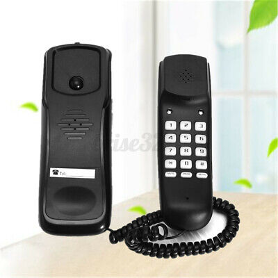 BALCK WALL MOUNT HOME CORDED PHONE TELEPHONE HOME OFFICE DES