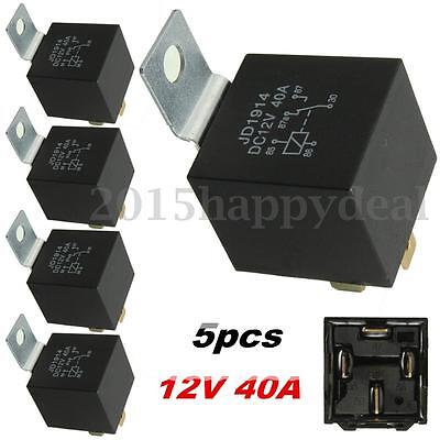 5x 12V 40A Relay 4 PIN Car Truck Boat Automotive 40 AMP Normally Open Contact