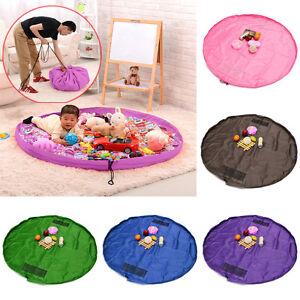 durable portable enfants lego poup e tapis de jeu housse rangement jouets sac ebay. Black Bedroom Furniture Sets. Home Design Ideas