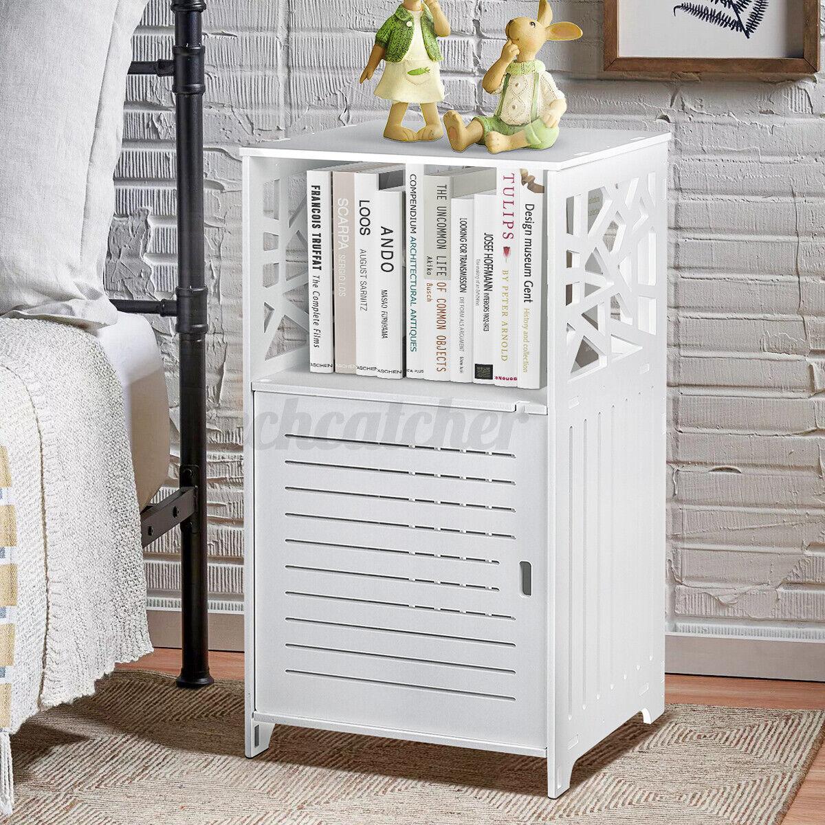 Sofa Side End Table Storage Bedside Shelf Living Room Bedroom Furniture Stand