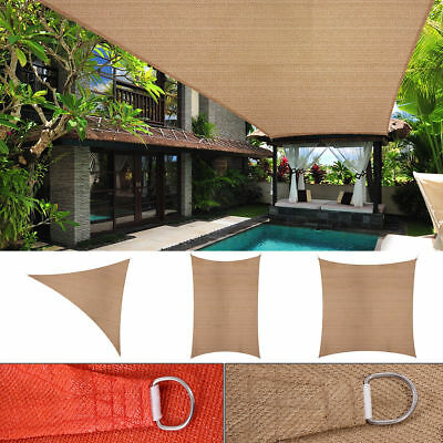 - Sun Shade Sail Outdoor Patio Pool Lawn Rectangle/Triangle Canopy Cover UV Block