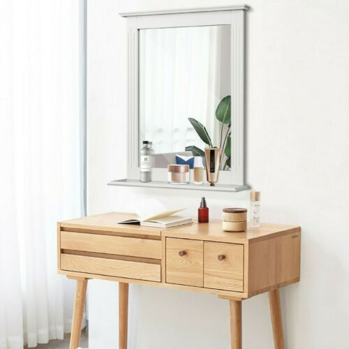 White Bathroom Wall Mirror Vanity Mirror Makeup Mirror Frame