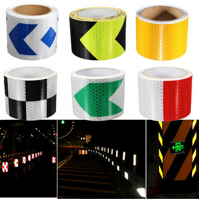 35m Reflective Safety Warning Conspicuity Tape Sticker Roll Film Trailer Us