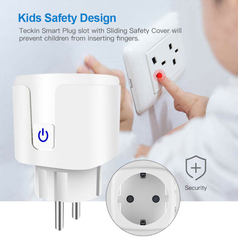16A WiFi Smart Remote Control Socket Plug Timer Switch Outle