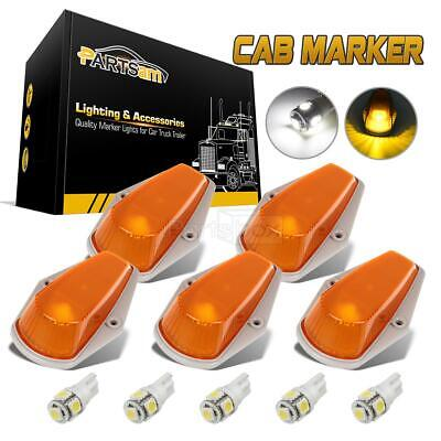 5X For Ford F150 F250 F350 Running Roof Top Cab Clearance Lights Amber+194 LED