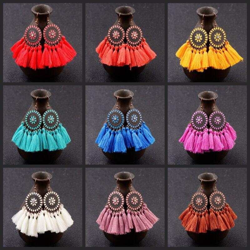Fashion Charm Vintage Gypsy Style Bohemian Boho Tassel Earrings For Women Gift