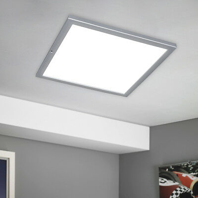 LED Panel Luz Pared Lámpara de Techo Aplique 900 Lumen Plata 38x38...