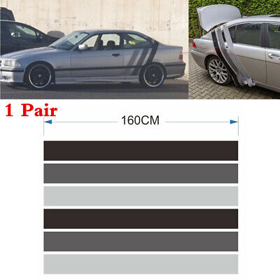 2x Tricolor Lines Racing Stripes Decor Decal Stickers For Car Side Body 160x52cm