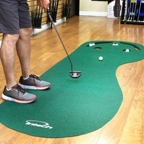 3 Hole Portable Golf Putting green Mat practice indoor training anti-skid back