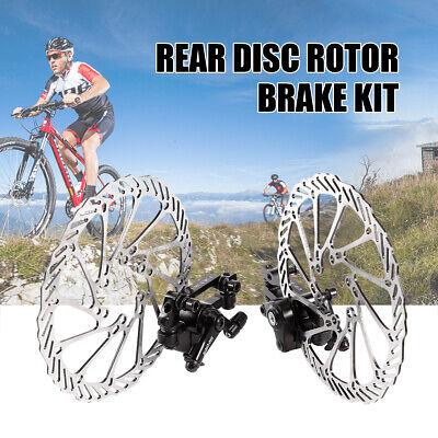 Bike Mechanical Disc Brake Caliper w/160mm Rotor Front&Rear For Mountain Bicycle Brake Caliper Mount