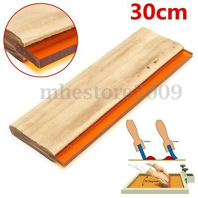12 Silk Screen Printing Squeegee Square Blade Ink Scraper Rubber Blade 300mm