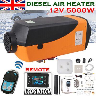 12V 5000W Air Diesel Heater LCD Monitor Remote Planar Silencer Truck Boats Car