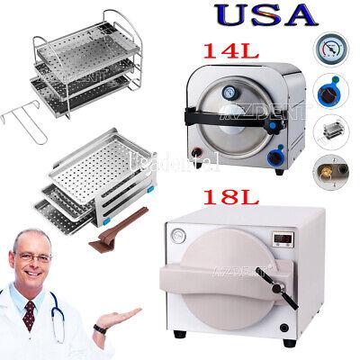 14l18l Dental Medical Autoclave Steam Sterilizer Sterilizition Equipment 900w