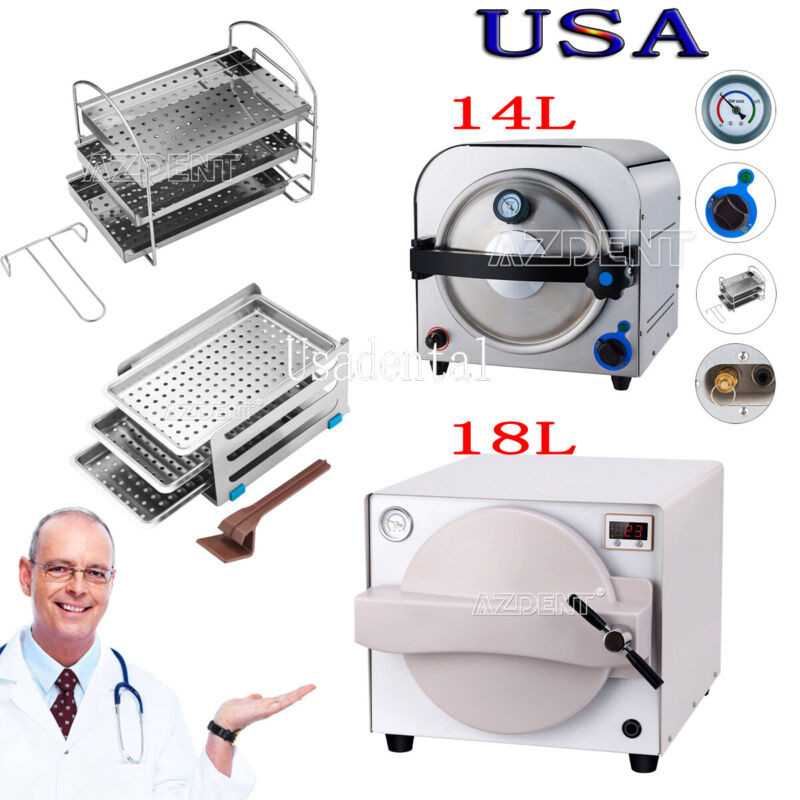 14L/18L Dental Medical Autoclave Steam Sterilizer sterilizition Equipment 900W