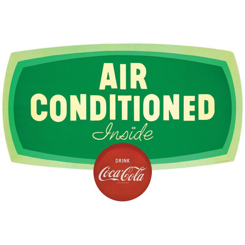 Drink Coca-Cola Air Conditioned Inside Decal 24 x 16 Retro Kitchen Wall Decor