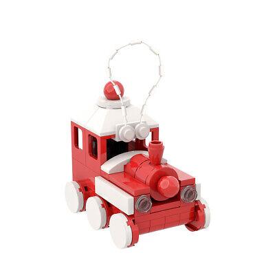 Red Train Ornament Building Bricks Toys Set 75 Pieces Bricks for Christmas