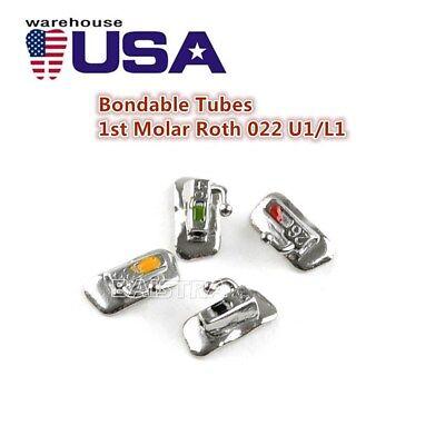 20X Dental Ortho 1st Molar Buccal Tube Roth 022 Bondable Non-con Marked AZDENT