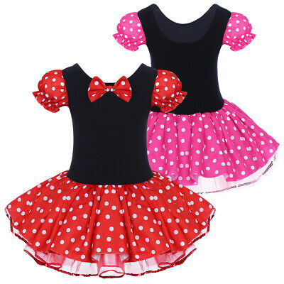 Minnie Mouse Party Costume Birthday Ballet Tutu Fancy Dress Up for Baby Kid Girl](Minnie Mouse Costume For Child)