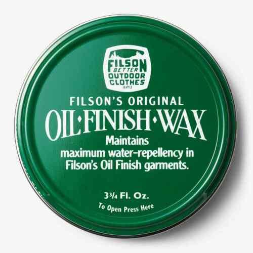 Filson Oil Finish Wax - 3 3/4oz - New!