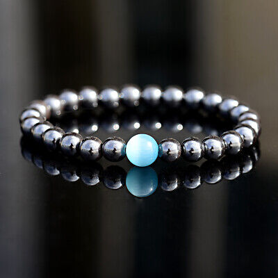 Unisex Therapeutic Energy Healing Bracelets Hematite Magnetic Women Men Bracelet