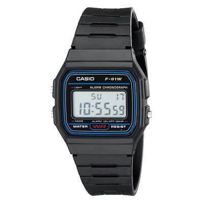 Casio F91w 1 Mens Classic Digital Sport Chrono Resin Strap Watch