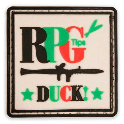 3D PVC RPG Tips Military Army Tactical Airsoft Biker Velcro Morale Patch Badge
