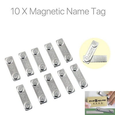 10 X Strong Magnetic Name Tag Badge Fastener ID Holder Card Magnet Self (Magnetic Name Tags)