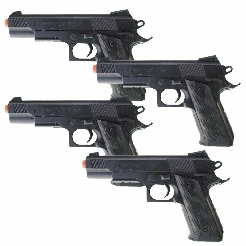 QTY 4 - Dark Ops Airsoft P338 Airsoft Hand Gun Full Size Spring Pistol w 6mm BBs