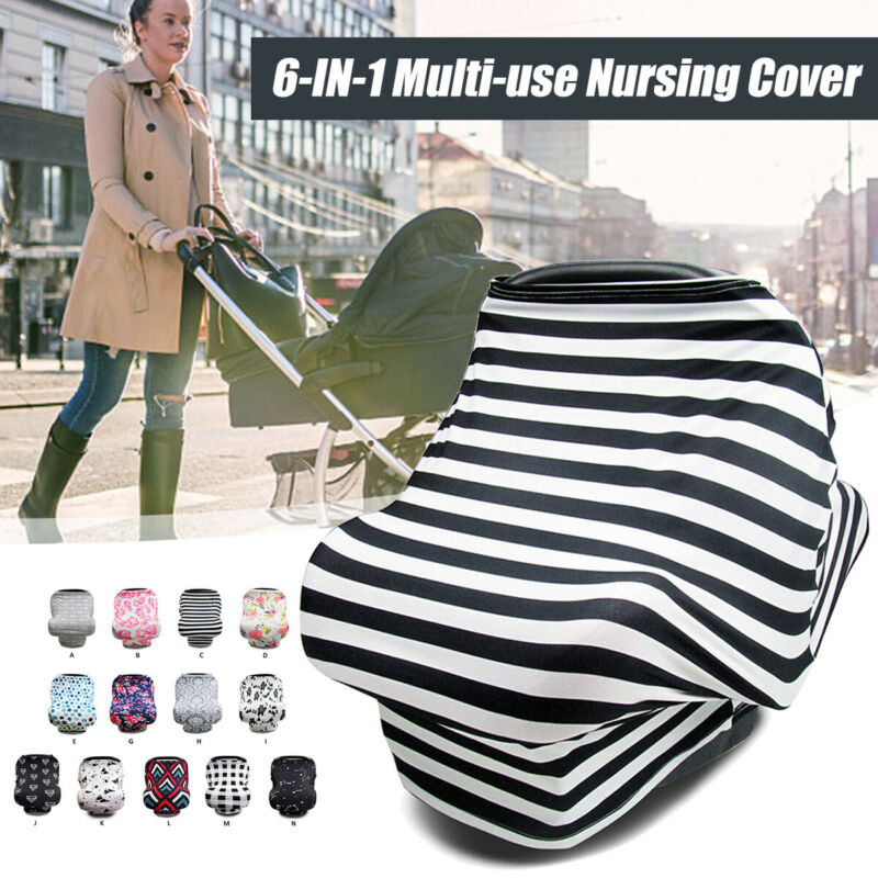 Multi-Use Stretchy Stroller Car Seat Cart Cover Nursing Scarf Breastfeeding US