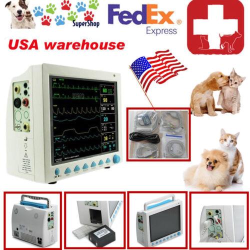 Us Seller,hot Veterinary Vet Patient Monitor Vital Signs Monitor 6 Parameters