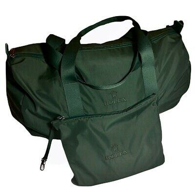 Rolex Authentic Forest Dark Green Nylon Duffel Sport Bag / Hold-all - Immaculate for sale  Shipping to Nigeria