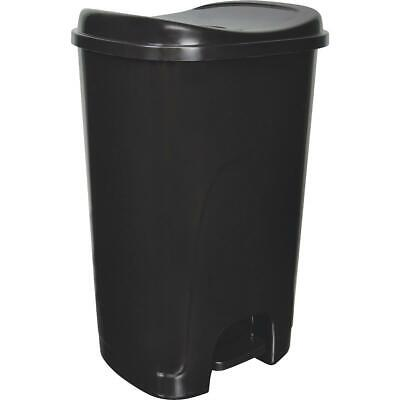 Hefty 13 Gal. Black Step-On Wastebasket HFT-2178075-4  - 1 Each