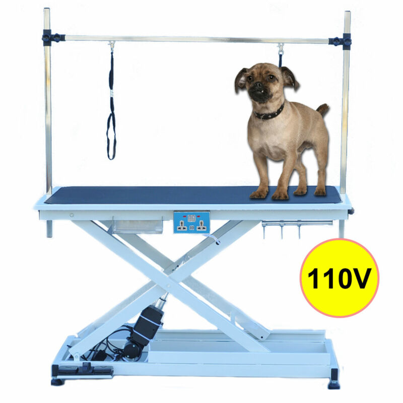 """50"""" Portable Pet Dog Grooming Table Foldable Adjustable Electric & Lift Table"""