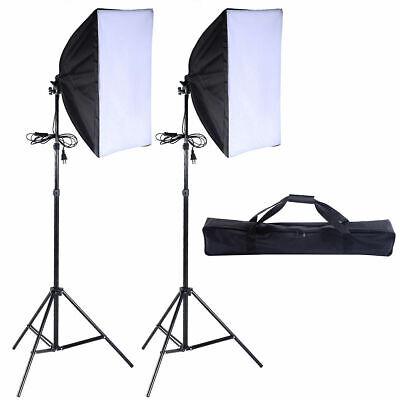 2 PCS Lighting Softbox Stand Photography Photo Equipment Soft Studio Light -