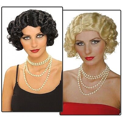 Flapper Wig  1920s Costume Accessory Adult Halloween
