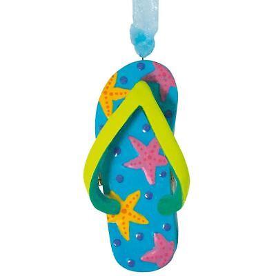Flip Flop Treasure Box Beach Christmas Ornament 874-20