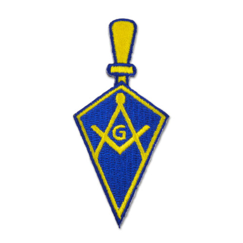 Trowel Square & Compass Embroidered Masonic Patch - [Blue & Gold][3