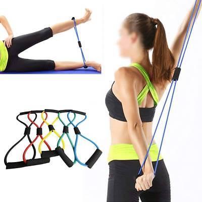 5 Farbe Widerstand Training Bänder Seil Schlauch Workout Stretch Yoga