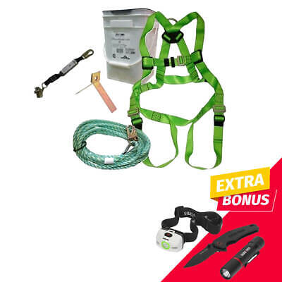 Duradrive 13266 30 Ft. 3 Point Full-body Harness Csa Standard Roofer Kit