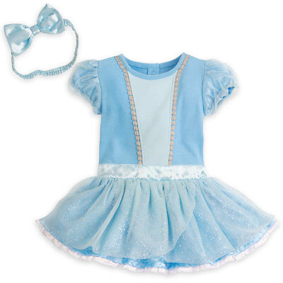 NWT Disney Store Princess Cinderella Baby Costume Bodysuit Headband many sizes